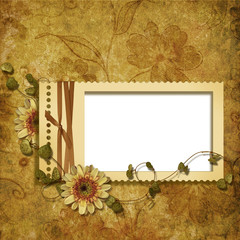 victorian background with stamp-frame