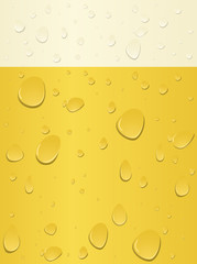 Abstract Beer Background - vector illustratino