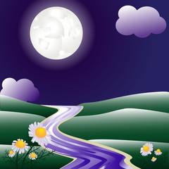 Sommer Nachtlandschaft