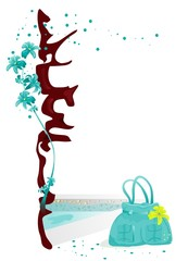Flower at pool