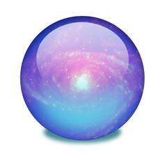 Esfera con galaxia