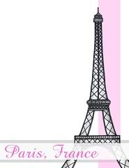 Poster Illustration Paris Eiffel Tower