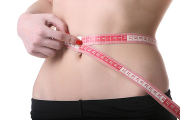 measuring waist isolated