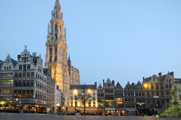 Canvas Prints Antwerp Groote Markt Antwerpen