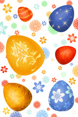Easter-eggs background