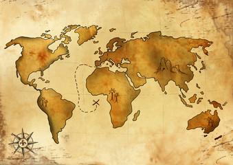 Weltschatzkarte 2