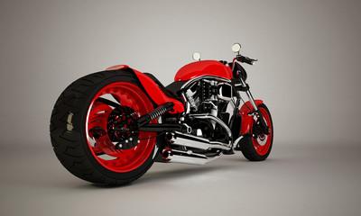 Keuken foto achterwand Motorfiets Custom Rossa 3