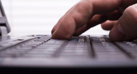 Fototapeta laptop typing