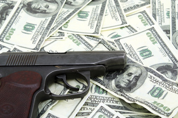 Gun and counterfeit money