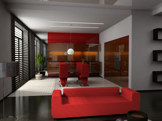 living a room with a dining zone