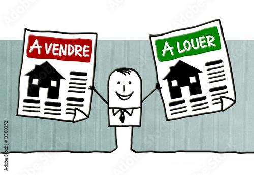 Agent immobilier photo libre de droits sur la banque d for Com agent immobilier