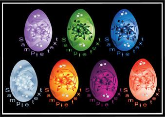 vektor easter gradient varicoloured eggs