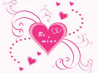 Valentine Hearts with swirls