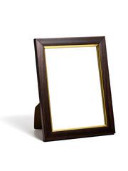 wooden desktop picture frame