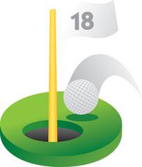 Eighteenth golf hole