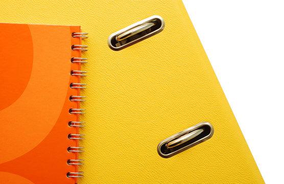 yellow binder detail