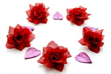 Kreis mit Rosen