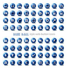 Web Button Icon Set - Blue Balls