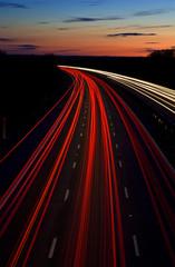 motorway light trails