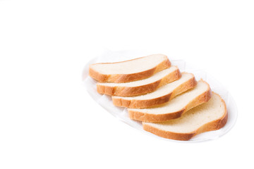 Sliced Bread on the plate. Bon appetit!