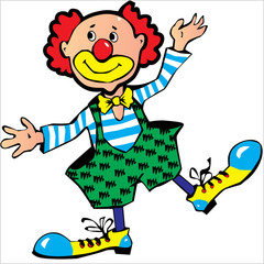 red-haired clown