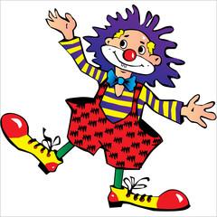 blue-haired clown