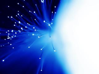 Blue fiber optic background