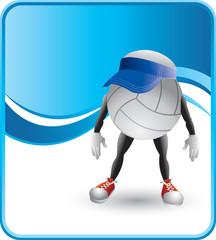 classy volleyball cartoon character