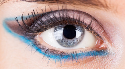Woman eye closeup