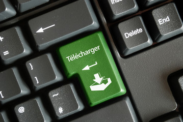 """Télécharger"" key on keyboard (French)"
