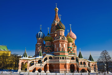 Fototapete - Saint Basil Cathedral on Red Square