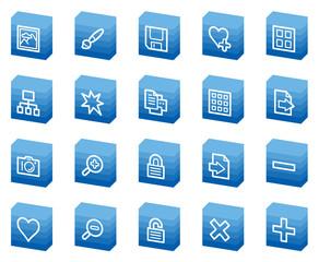 Image library  web icons, blue box series