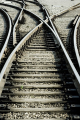 Türaufkleber Eisenbahnschienen Entscheidung
