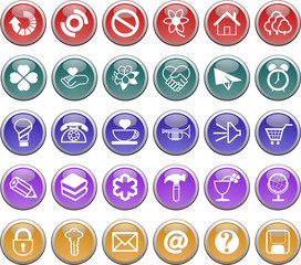 web buttons,icons