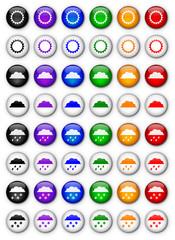 """Boutons """"Météo"""" (x48 - Multicolores)"""
