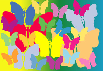 Background from butterflies