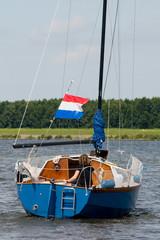 Sailboat at the river