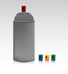 spray can + caps
