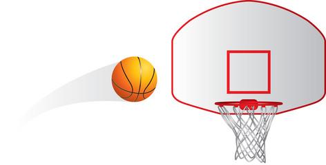 Isolated basketball shot