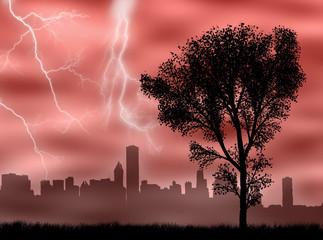 Città nella tempesta