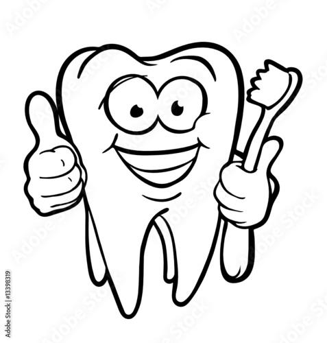 """""""tooth with toothbrush"""" stockfotos und lizenzfreie"""