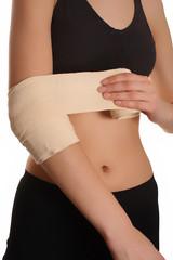 bandage on arm