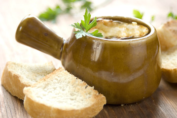 onion soup from oven