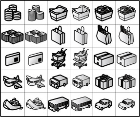 traffic vector icons