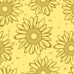 sunflower seamless background