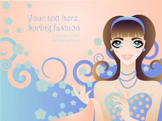 Spring fashionable girl