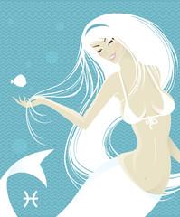 Beautiful girl - zodiac signs (pisces)
