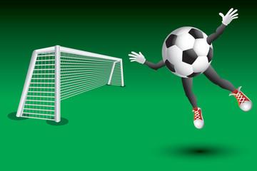 Soccer ball fan