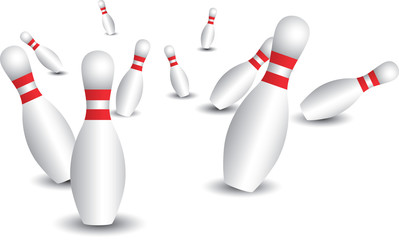 Isolated bowling pins