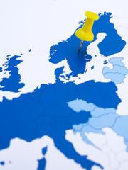 Sweden, Northern Europe, Scandinavia,map